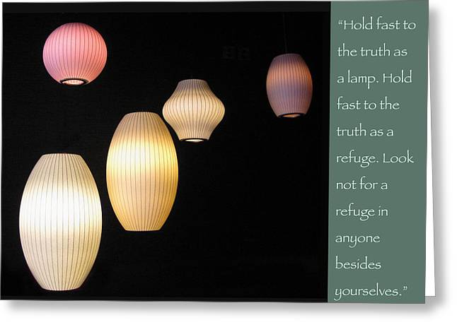 Night Lamp Greeting Cards - Be a Lamp Unto Yourself Greeting Card by Heidi Hermes