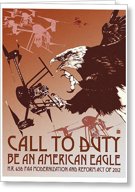 Free Speech Digital Greeting Cards - Be An American Eagle Greeting Card by Philip Slagter