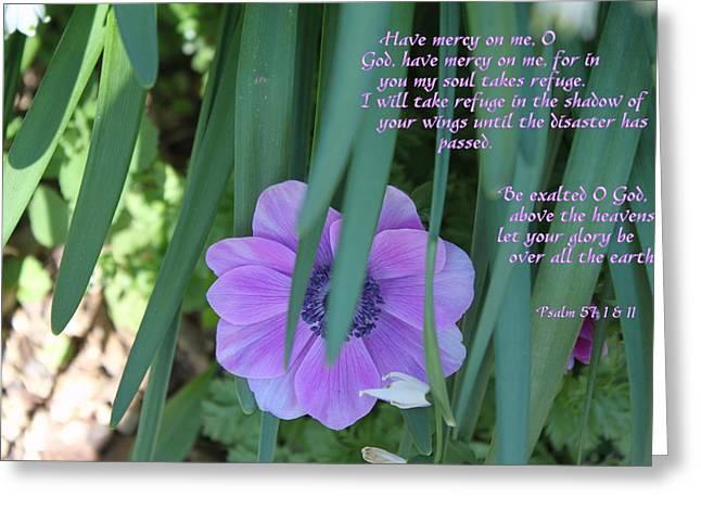 Be Exalted Oh God Greeting Card by Carolyn Ricks