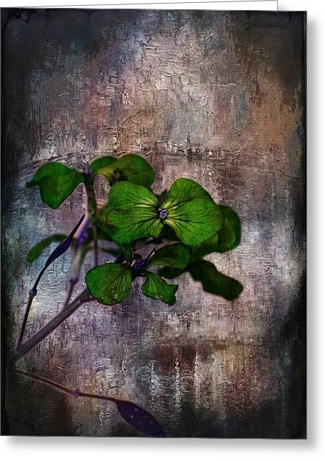 Single Mixed Media Greeting Cards - Be Green Greeting Card by Aaron Berg