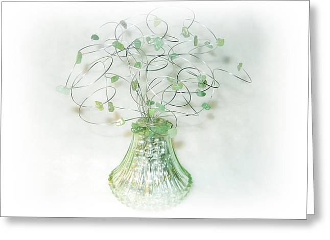 Silver Sculptures Greeting Cards - Be Happy Greeting Card by Joyce  McCormick-Mabry
