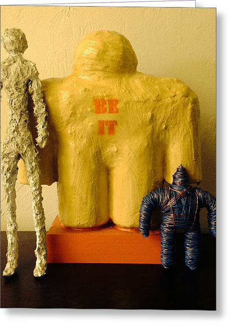 Tall Sculptures Greeting Cards - Be It Group Greeting Card by Daniel P Cronin