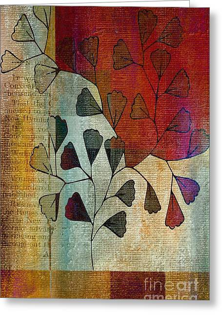 Tricolored Greeting Cards - Be-Leaf - 134124167-bl22t1 Greeting Card by Variance Collections