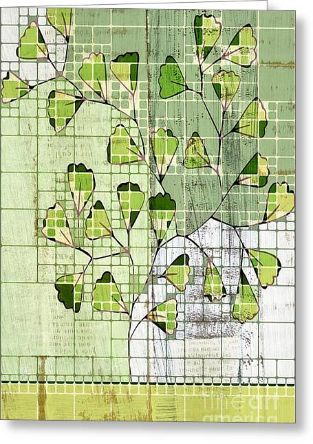 Dining Room Digital Art Greeting Cards - Be-Leaf - Green 03-ab202t2 Greeting Card by Variance Collections