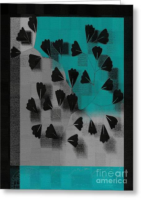 Tricolored Greeting Cards - Be-Leaf - j53036152 Greeting Card by Variance Collections