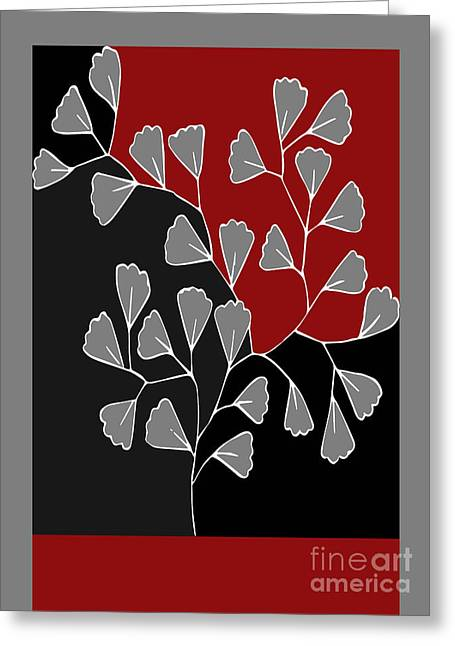 Red Leaves Digital Greeting Cards - Be-Leaf - rb01btfr2 Greeting Card by Variance Collections