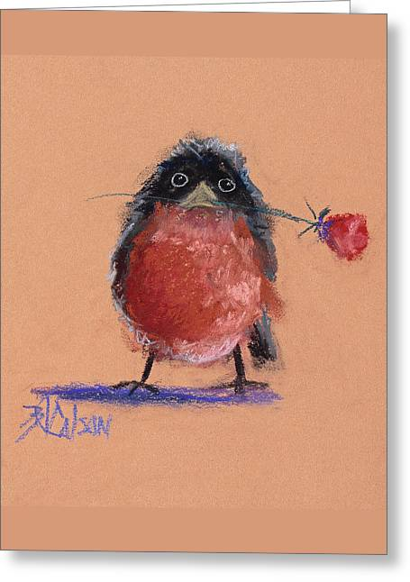People Pastels Greeting Cards - Be Mine Greeting Card by Billie Colson