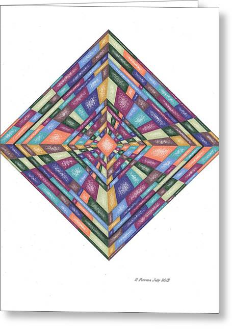 Sacred Drawings Greeting Cards - Be More Aware Template Greeting Card by Ruthie Ferrone