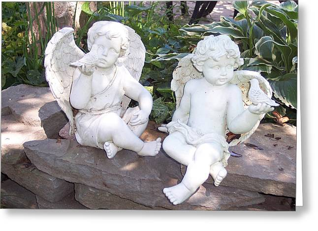 Garden Statuary Greeting Cards - Be My Friend Greeting Card by Georgia Hamlin