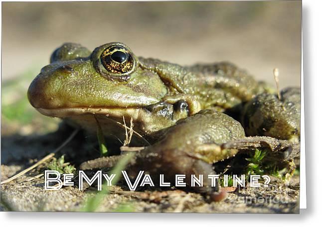 Be My Valentine Greeting Card by Ausra Huntington nee Paulauskaite