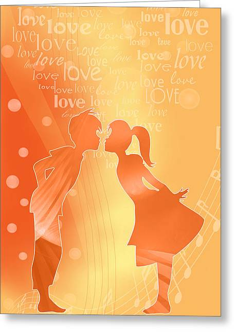 Be My Valentine Greeting Card by Gayle Odsather