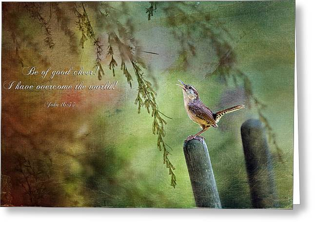 Overcome Greeting Cards - Be of good cheer Greeting Card by Bonnie Barry