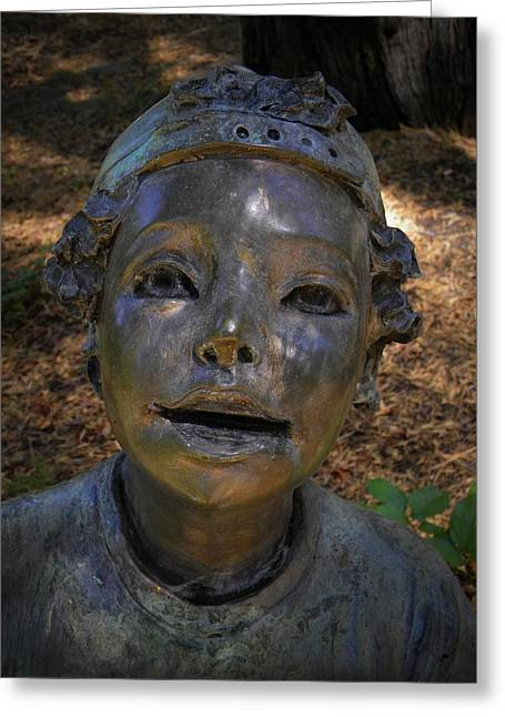 Garden Statuary Greeting Cards - Be On My Team Greeting Card by Frank Wilson