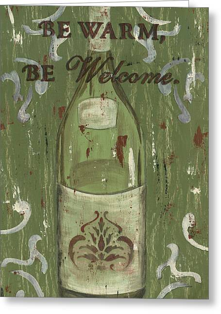 Sauvignon Greeting Cards - Be Our Guest Greeting Card by Debbie DeWitt
