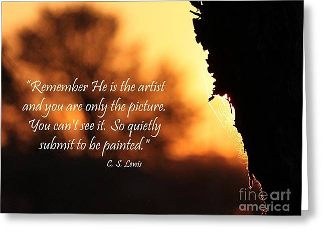 C.s Lewis Greeting Cards - Be Painted Greeting Card by Erica Hanel