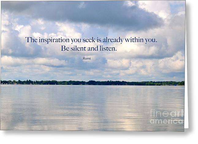 The Landscape Listens Greeting Cards - Be Silent and Listen - Inspirational Collection Greeting Card by Cindy Nearing
