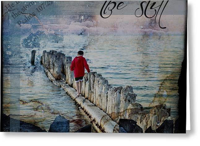 Peace Be Still Greeting Cards - Be Still Greeting Card by Evie Carrier