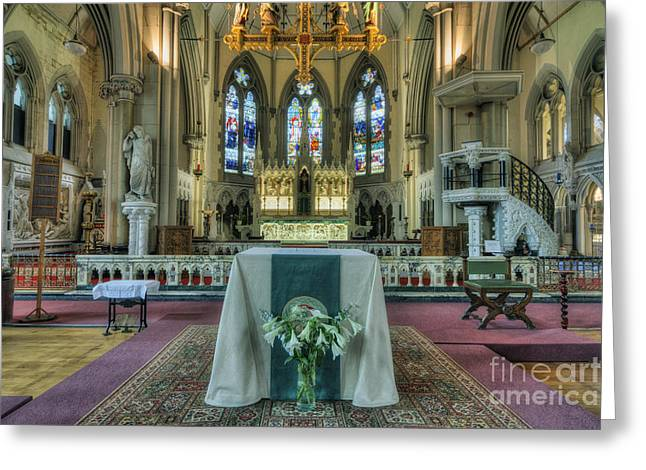 Religious Framed Prints Greeting Cards - Be Strong Fear Not Greeting Card by Ian Mitchell