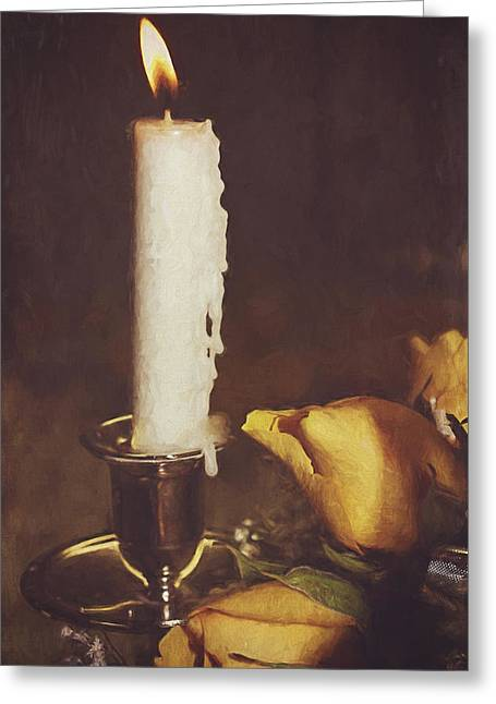 Candle Lit Greeting Cards - Be The Light Greeting Card by Kathy Jennings