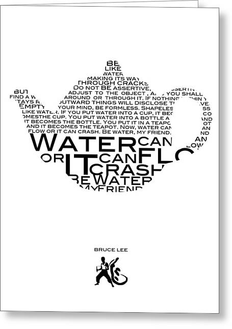 My Friend Greeting Cards - Be water Bruce Lee Greeting Card by Gina Dsgn