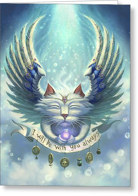 Angel Digital Greeting Cards - Be with you Greeting Card by Jeff Haynie