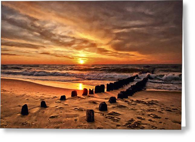 Ocean Photography Greeting Cards - Beach 5 Greeting Card by Ingrid Smith-Johnsen