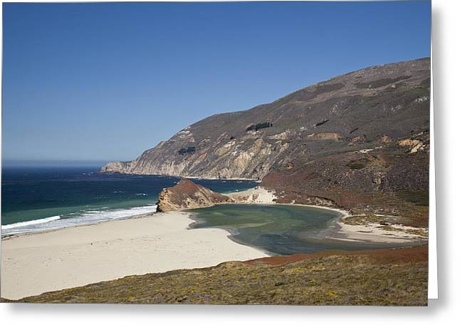 Big Sur Beach Greeting Cards - Beach Along Big Sur Greeting Card by Frank Russell