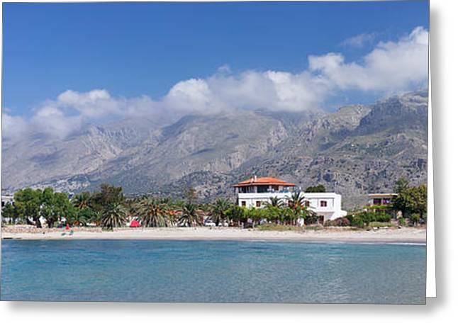 Crete Greeting Cards - Beach And Bay, Frangokastello, Crete Greeting Card by Panoramic Images