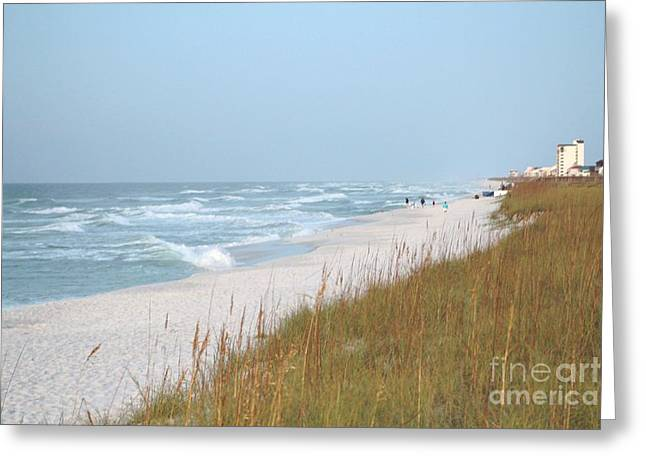 Panama City Beach Greeting Cards - Beach and Blue sky Greeting Card by Michelle Powell