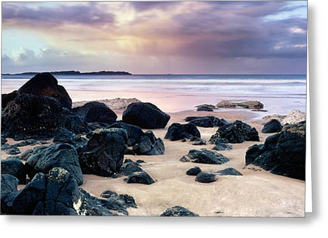 Europe Greeting Cards - Beach and Storm Greeting Card by Rod McLean