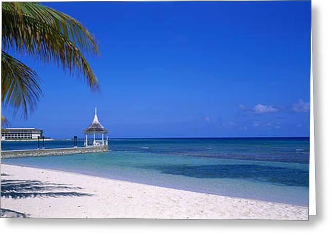 Half Moon Bay Greeting Cards - Beach At Half Moon Hotel, Montego Bay Greeting Card by Panoramic Images