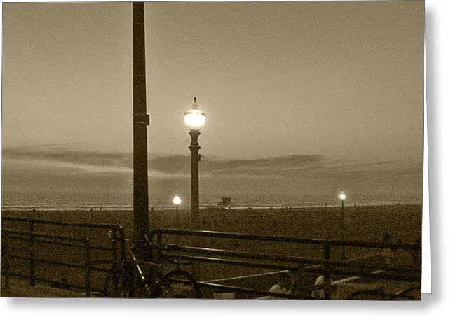 Beach At Night Greeting Card by Ben and Raisa Gertsberg