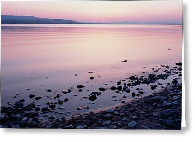 Lake Constance Greeting Cards - Beach At Sunset, Lake Constance, Germany Greeting Card by Panoramic Images