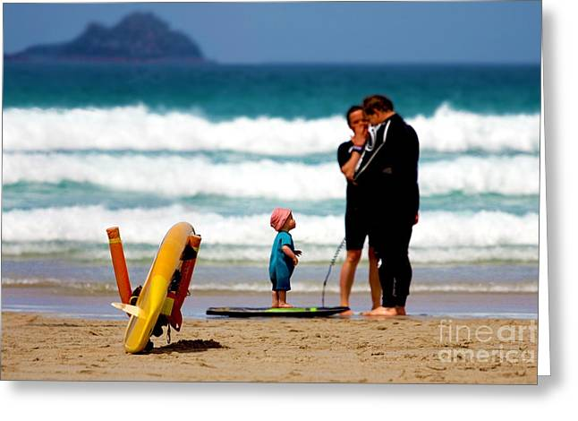 Sennen Cove Greeting Cards - Beach Baby Greeting Card by Terri  Waters