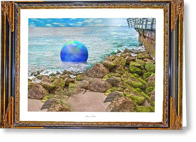 Fantasy World Greeting Cards - Beach Ball Dreamland Greeting Card by Betsy C  Knapp