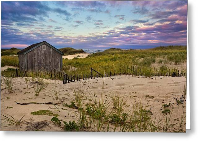 Cape Cod National Seashore Greeting Cards - Beach Barn Greeting Card by Bill  Wakeley