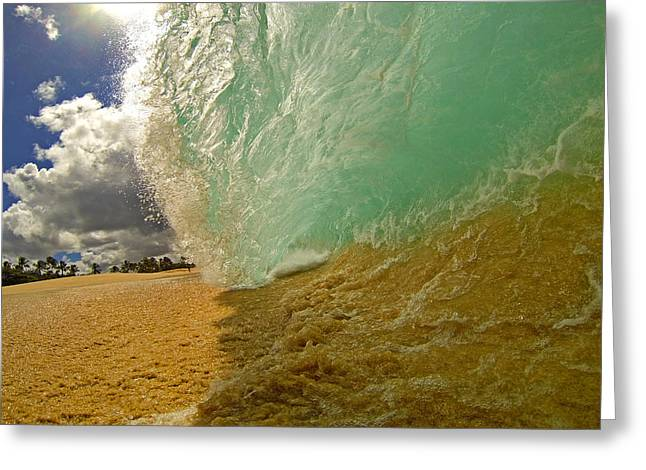 Shorebreak Greeting Cards - Beach Barrel Greeting Card by James Roemmling