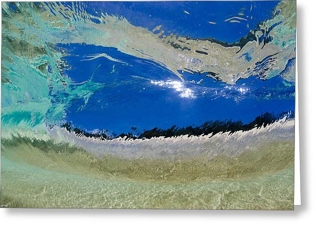 Ocean Energy Greeting Cards - Beach Barrel Greeting Card by Sean Davey