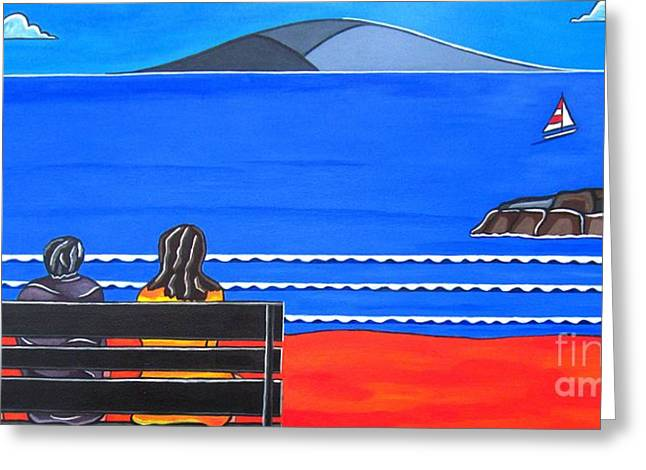 Sandra Marie Adams Greeting Cards - Beach Bench Day One Greeting Card by Sandra Marie Adams