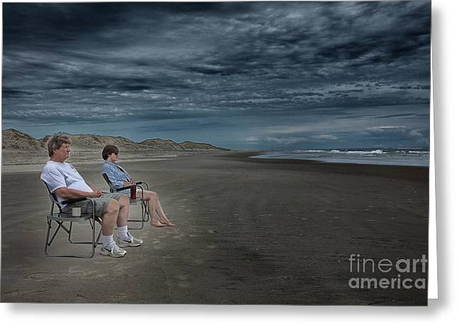 Best Ocean Photography Greeting Cards - Beach Besties - Outer Banks Greeting Card by Dan Carmichael