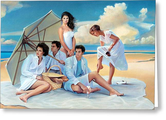 Bread Loaf Greeting Cards - Beach Blanket Bingeaux Greeting Card by Patrick Anthony Pierson