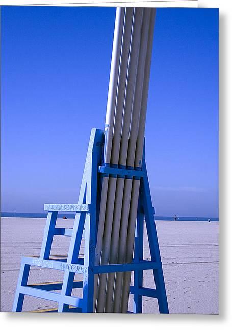 Richard Smukler Greeting Cards - Beach Blues Greeting Card by Richard Smukler