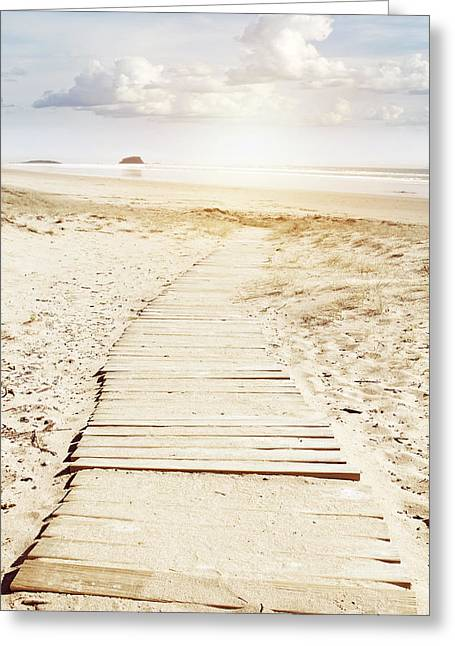 Beach Photographs Greeting Cards - Beach boards Greeting Card by Les Cunliffe