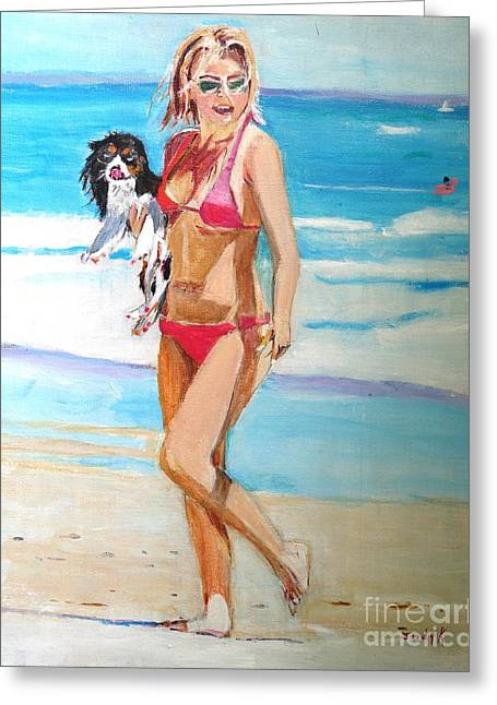 Figurative Greeting Cards - Beach Buddies Greeting Card by Judy Kay