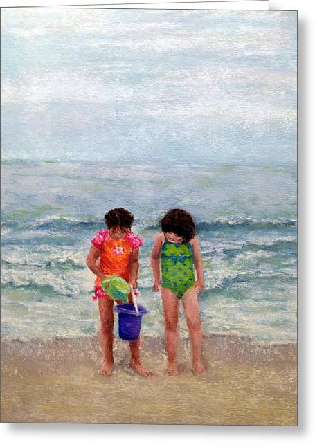 Suit Pastels Greeting Cards - Beach Buddies Greeting Card by Stacey David