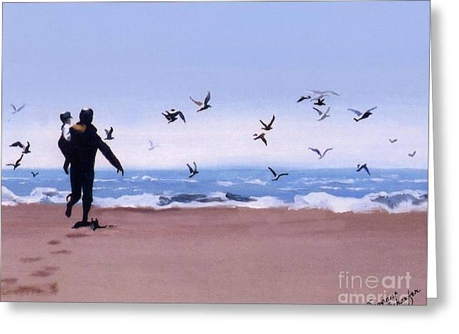 Beach Buddies Greeting Card by Suzanne Schaefer