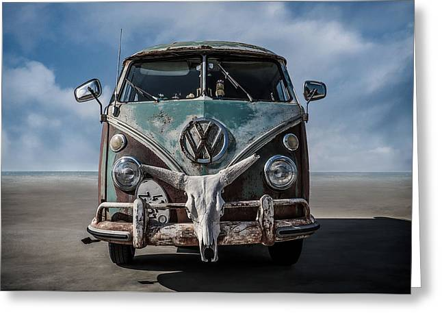 Volkswagen Greeting Cards - Beach Bum Greeting Card by Douglas Pittman