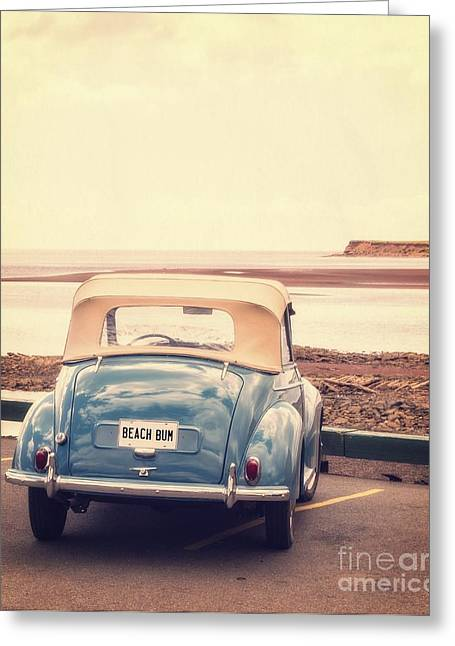 Beach Bum Greeting Card by Edward Fielding