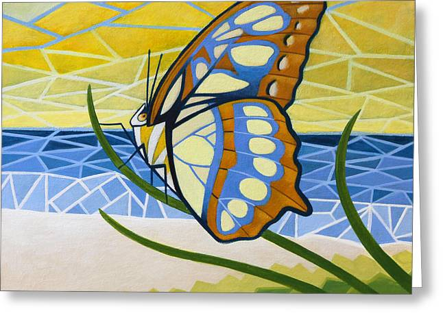 Nathan Miller Greeting Cards - Beach Butterfly Greeting Card by Nathan Miller