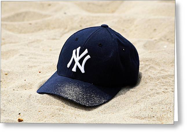 Bronx Bombers Greeting Cards - Beach Cap Greeting Card by John Rizzuto
